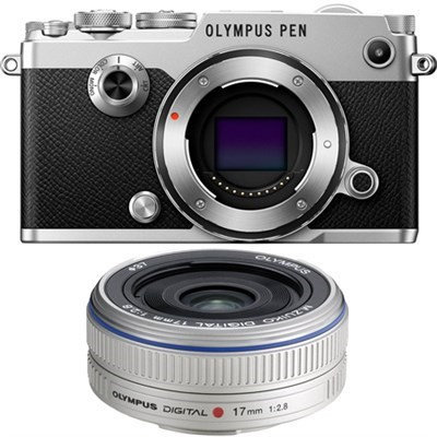 Olympus PEN-F 20MP Mirrorless Micro Four Thirds Digital Camera w/ 17mm f2.8 Lens Bundle