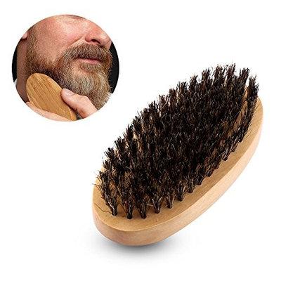 Beard Brush for Men, Natural Faux Boar Bristle Wood Handle Mustache Beard Grooming Comb Brush Tool, Styling & Shaping