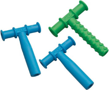 Chewy Tubes Sensory Teether - Green/Blue/Blue - 3 Pack