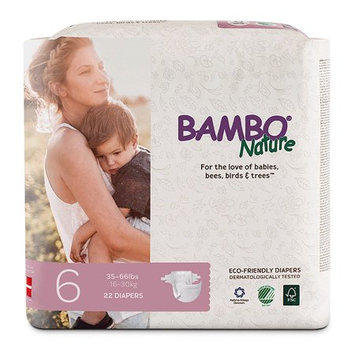 Bambo Nature Premium Baby Diapers, Size 6, 22 Count;