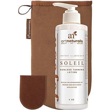 ArtNaturals Art Naturals Self Tanner Sunless Tanning Lotion Set w/ Mitt 8oz- Creates a Buildable Bronze & Golden Tan w/ Each Application - Instant Tint for All Skin Types, Light, Fair, Medium & Sensitive