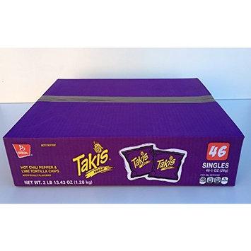 Takis Fuego Box of 46 bags (1 oz. each) (Hot Chili Pepper)