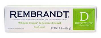 Rembrandt Deeply White + Peroxide Whitening Toothpaste, 2.6 oz