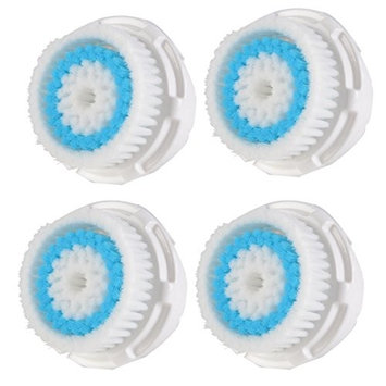 4-Pack Deep Pore Facial cleansing Brush Head Replacement for Facial Cleanser Compatible with Mia, Mia2, Mia3 (Aria), Mia Fit, Alpha Fit, Smart Profile, PLUS, PRO
