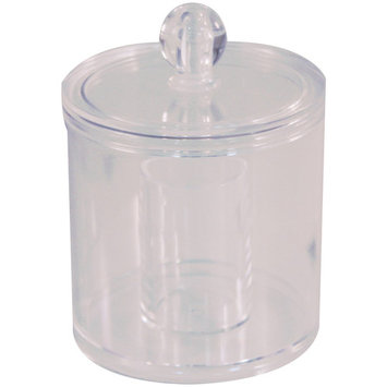 LDR Industries Covered Organizer for Cosmetics, Cotton Balls, Swabs Clear Plastic