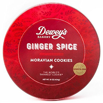 Salem Baking Company Moravian Ginger Spice Cookies, 16-Ounce Tin