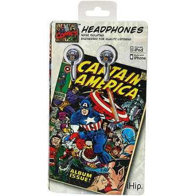 Ihip Mvf1030ca Blue Captain America Earbuds Printed Vintage