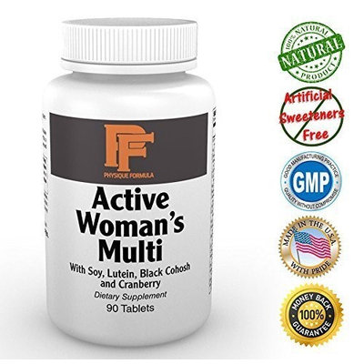 Physique Formula Women's Multi Vitamin- Cutting Edge Multi Vitamin For Active Women Containing Research Valdated Nutrients That Increase Metabolism, Boost Energy, Fight Fatigue and