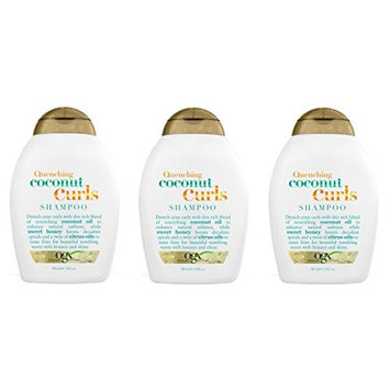 [Value Pack of 3] OGX Quenching+ Coconut Curls Shampoo 13oz w/sweet honey & citrus oil : Beauty