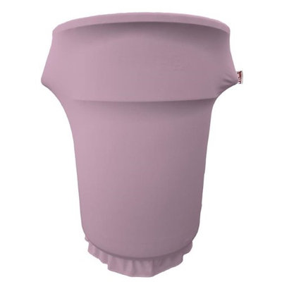 LA Linen SpandexCover55Gwheels-LilacX45 Spandex Cover Fitted for 55 gal Trash Can on Wheels Lilac
