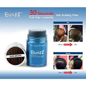 Hair Building Fibers,Dark Brown,0.42oz/12g,Instant Hair Loss Treatment,Hair Thickening Fibers with Natural Iron Oxide,Best Keratin Hair Fibers Cover Thinning and Balding Spots