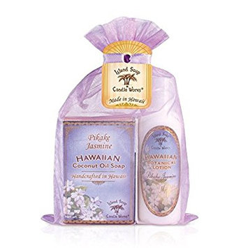 island soap & candle works soap/lotion organza gift bags, pikake