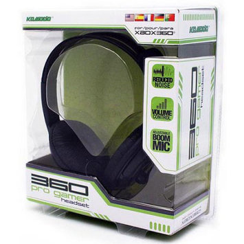 KMD (KOMODO) Live Pro Gamer Headset with Mic Black (Larger) for XBOX 360