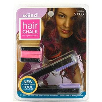 Sc?nci Hair Chalk ~ Non-permanent (Purple & Pink Chalk Plus Applicator) by Scunci