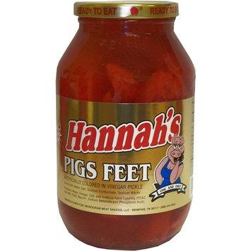 Hannah's Ready To Eat Pickled Pigs Feet 16 oz. Jar