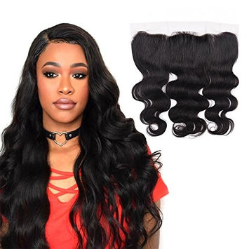 MarchQueen Lace Frontal 13x4 Free Part 4X4 Closure Body Wave Brazilian Virgin Hair Baby Hair Closures Human Hairpieces Natural Black color 1B 12