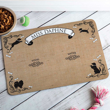 Personalized French Motif Meal Mat