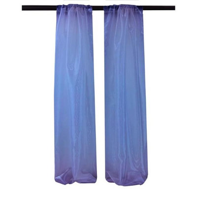 LA Linen DBOrganza58x96-Pk2-RoyalO50 Mirror Organza Backdrop Royal Blue - 58 x 96 in. - Pack of 2