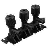 Black Plastic 3-way Aquarium 3mm Outlet Air Flow Control Lever Valve