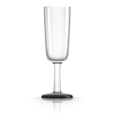 Marc Newson PM813 Flute Glass with Nonslip Base White