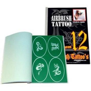 Original Brand New Airbrush Stencils 100 Temporary Tattoos Designs Design Book 12 Profession Popular Hot Stylish Style Design Pattern