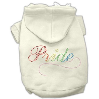 Mirage Pet Products Rainbow Colored Pride Hoodies Cream XL (16)