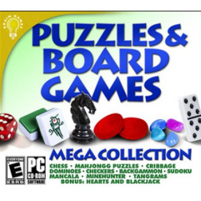 On Hand Software Puzzles & Board Games Mega Collection
