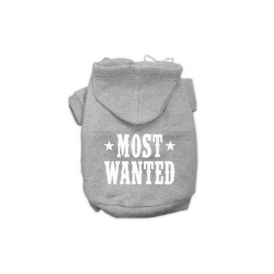 Mirage Pet Products Most Wanted Screen Print Pet Hoodies Grey Size XXXL (20)
