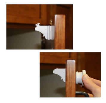 7Penn Magnetic Baby Proof Locks, 12 Locks + 3 Keys - Invisible Safety Latches for Cabinets, Drawers, and Doors with 3M Adhesive, No Screws & No Drilling