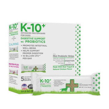 K-10 Plus Digestive Support Dog Protein Bars, Pack of 5 bars