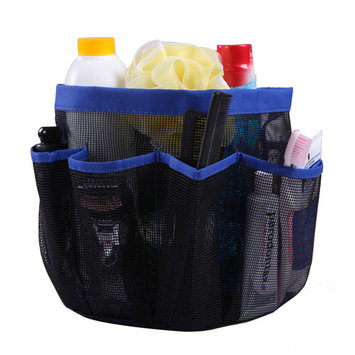 HDE Packable Mesh Shower Bag Caddy [Quick Dry] Bathroom Carry Tote Toiletry and Bath Organizer for College Dorms, Gym, Camping, and Travel (Blue)