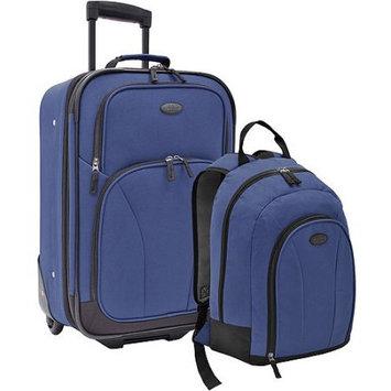 U.S. Traveler 2-Piece Carry-On Casual Luggage Set