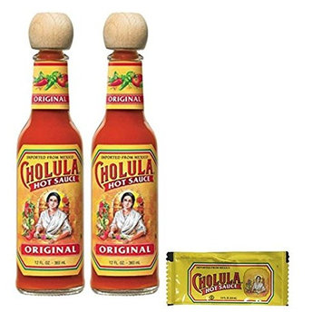 Cholula Original Hot Sauce 12 Oz (Pack of 2) & 25 Original Sauce Packets
