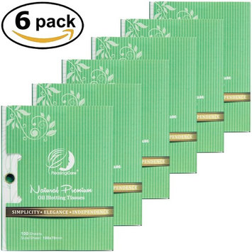 PleasingCare Facial Oil Blotting Paper For Oily Skin, 100 Count, pack of 6 - Natural Green Tea Face Absorbing Sheets, Skin Care and Oil Control Must Have For Both Femle and Male [Green Tea - 6 Pack]