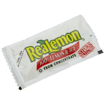 ReaLemon 100% Lemon Juice from Concentrate, 0.14-Ounce Single Serve Packages (Pack of 200)