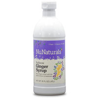 NuNaturals - NuStevia - Ginger Syrup - Natural Sweetener - 16 Ounce [Ginger]