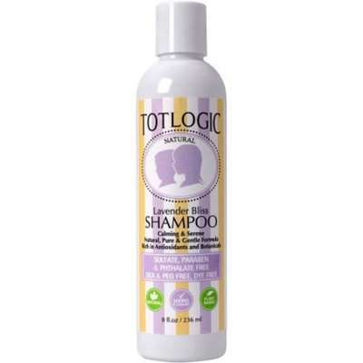 TotLogic Sulfate Free Baby Shampoo- Lavender Bliss Hair Care, 8 oz, No Phthalates, No Formaldehyde, Infused With Natural Antioxidants and Botanicals