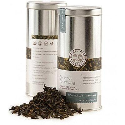 Golden Moon Tea - Coconut Pouchong Tea - Loose Leaf - Non GMO - 1.3oz Tin - 16 Servings [Coconut Pouchong Tea]