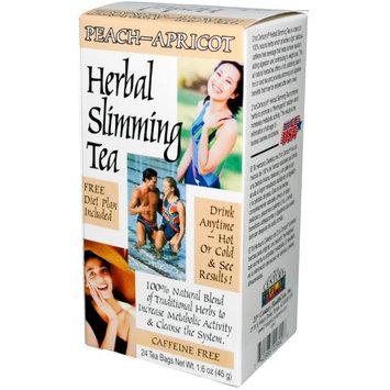 21st Century, Herbal Slimming Tea, Peach-Apricot, Caffeine Free, 24 Tea Bags, 1.6 oz (pack of 12)