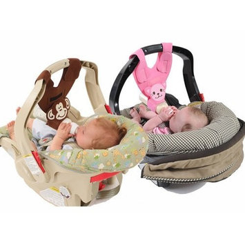 Hands-Free Baby Bottle Holders for Twins (Monkey and Kitten)