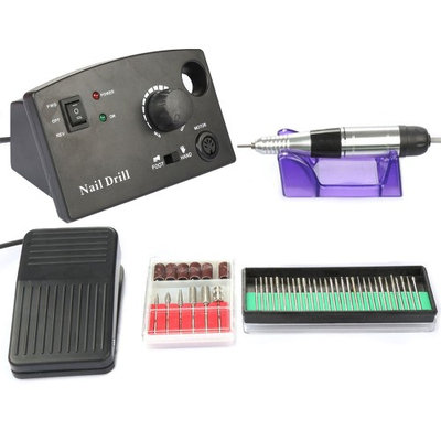 Besmall Nail Art Drill File Manicure Professional Salon Hobbyists Nail Drill Machine Acrylics Gels Professional Black