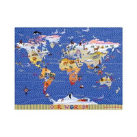 Play N Placemat Tropical Lagoon Travel Placemat