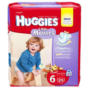 HUGGIES Little Movers Diapers, Step 6. [ Sold by the Each, Quantity per Each : 1 EA, Category : Undergarments, Product Class : Undergarments ]