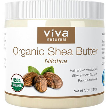 Viva Naturals Shea Butter (16 oz) - Unrefined Certified Organic Shea Butter, Perfect for All Skin Types and DIY Recipes