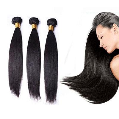 Black Hair Bundles Weft Unprocessed Brazilian Virgin Human Hair Weave Grade 7A Quality Brazilian Hair Extensions Weave Weft Thick Straight 18