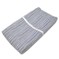 American Baby Company 100% Cotton Jersey Fitted Contoured Changing Table Pad Cover, also works with Travel Lite Mattress, Navy/grey Funny Stripes
