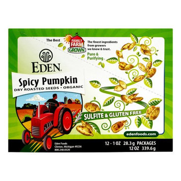 Eden Foods Pocket Snacks Spicy Pumpkin Seeds 12 Packages