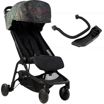 Mountain Buggy Year of the Dog Special Edition Nano 2 Travel Stroller with Grab Bar and Food Tray