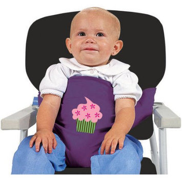 Leachco Sit 'n Secure Child's Safe High Chair & Shopping Cart Seating Wrap Purple Cupcake