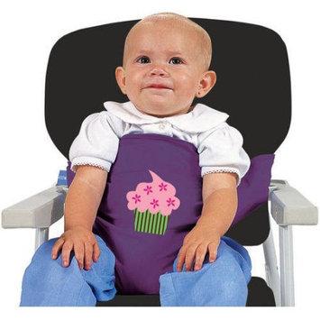 Leachco Sit 'n Secure Child's Safe High Chair & Shopping Cart Seating Wrap Purple Cupcake